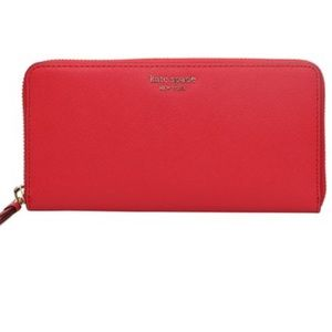 KATE SPADE || hot chili Margaux continental wallet